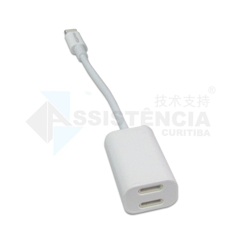 CABO ADAPTADOR H'MASTON XT16 2 EM 1 PARA IPHONE