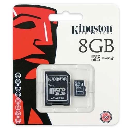 CARTÃO DE MEMÓRIA MICRO SD KINGSTON 8GB COM ADAPTADOR ORIGINAL
