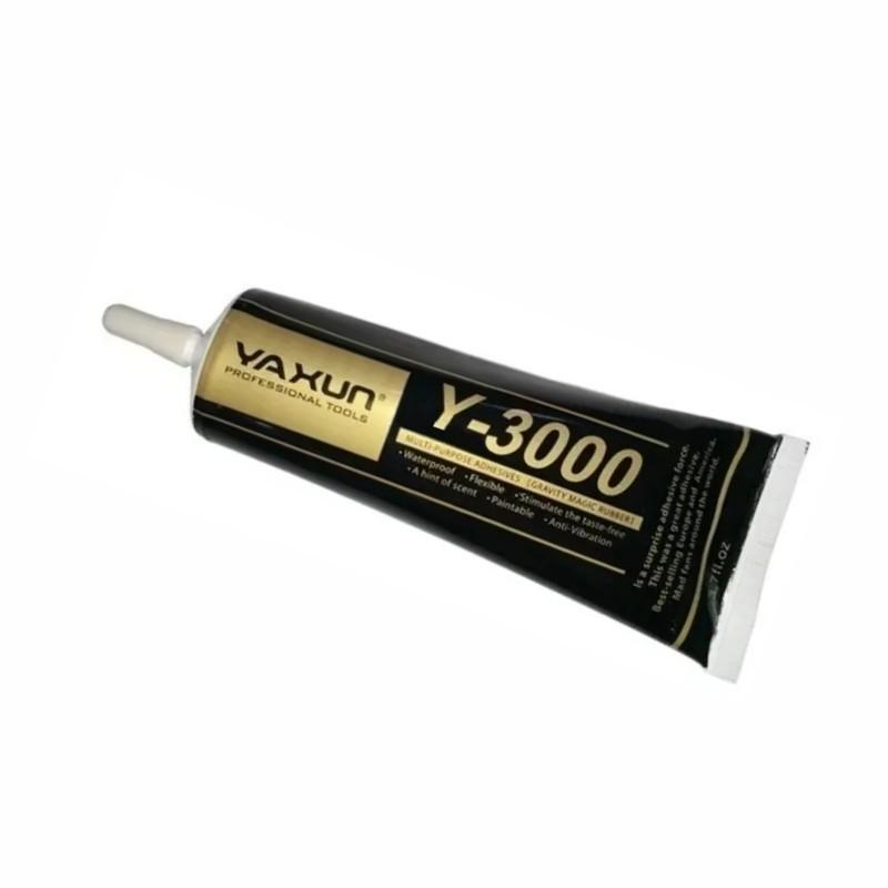 COLA Y3000 ADESIVA MULTIUSO YAXUN  PRETA 110ml Y 3000