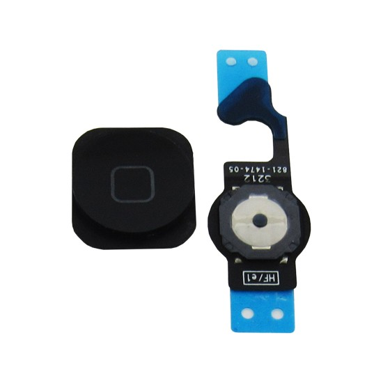 Flex Botão Home Completo Apple Iphone 5G Preto