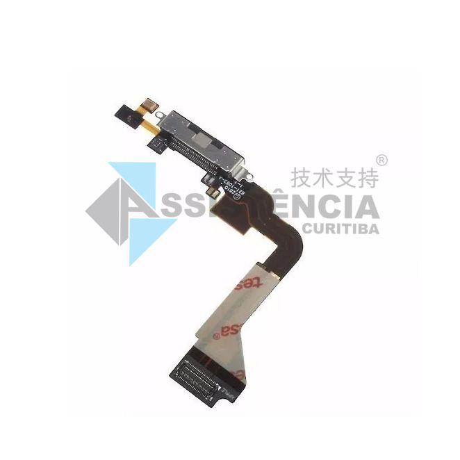 Flex Conector De Carga Apple Iphone 4G A1332 A1349 Preto