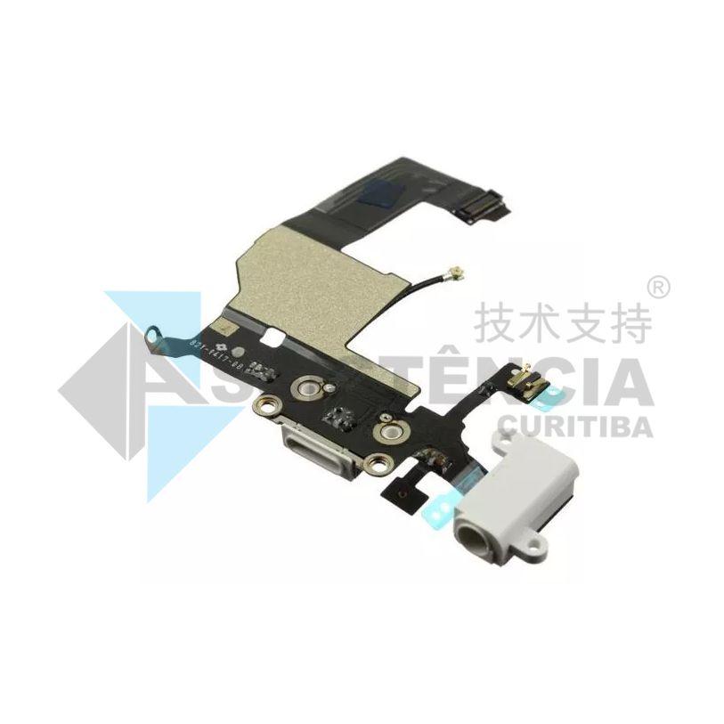 FLEX CONECTOR DE CARGA E FONE CELULAR APPLE IPHONE 5G A1428 A1429 A1442 BRANCO