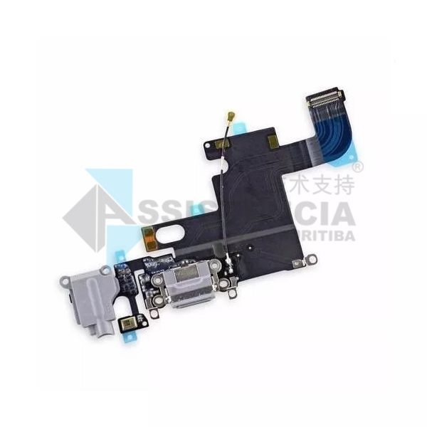 FLEX CONECTOR DE CARGA E FONE CELULAR APPLE IPHONE 6G ORIGINAL BRANCO
