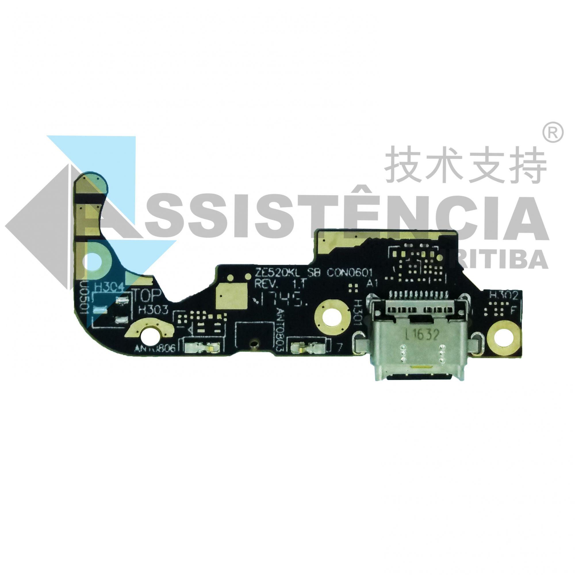 Flex Placa Conector De Carga E Mic Asus Zenfone 3 Ze520Kl Z017D