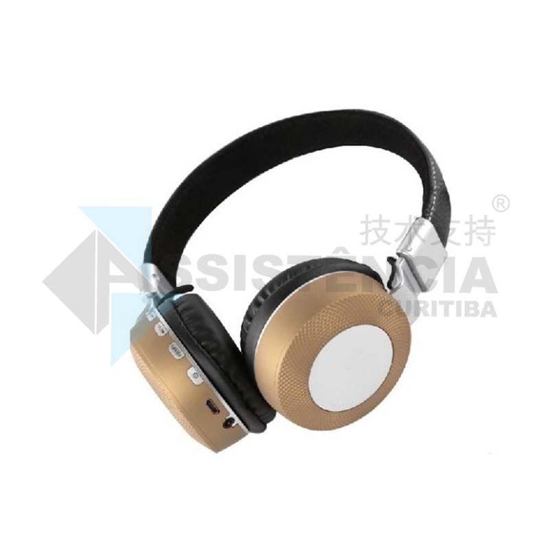 FONE DE OUVIDO BLUETOOTH HEADPHONE WIRELESS SEM FIO DOURADO MS -K3 - 841