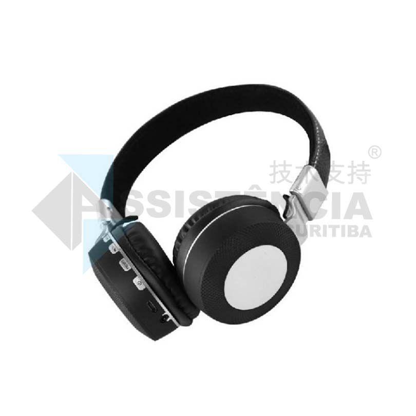 FONE DE OUVIDO BLUETOOTH HEADPHONE WIRELESS SEM FIO PRETO MS -K3 - 841