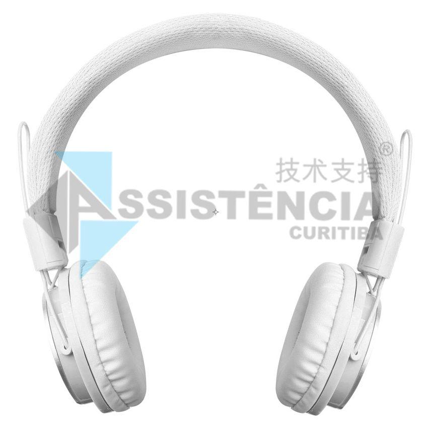 FONE DE OUVIDO HEADPHONE COM FIO PMCELL BRANCO