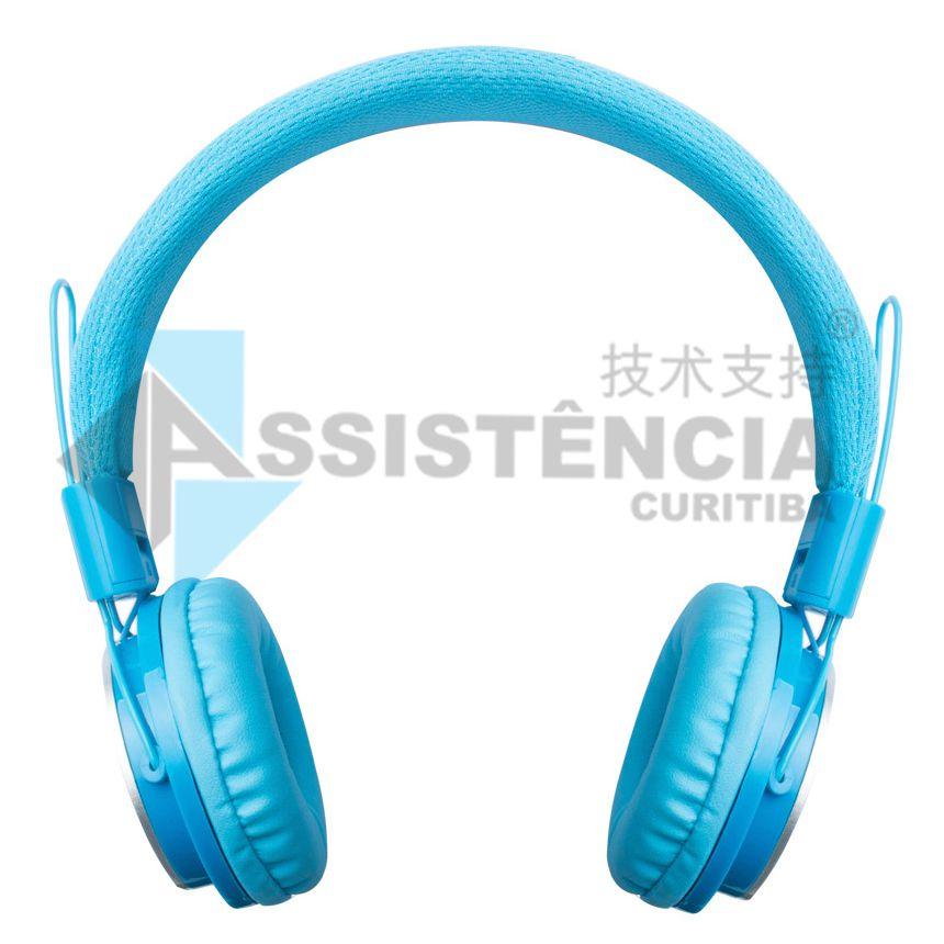 FONE DE OUVIDO PMCELL HEADPHONE COM FIO AZUL