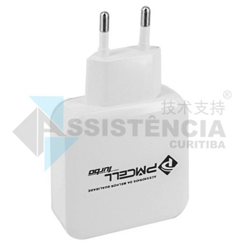 FONTE CARREGADOR PMCELL HC-31 TURBO 730 QUALCOMM USB