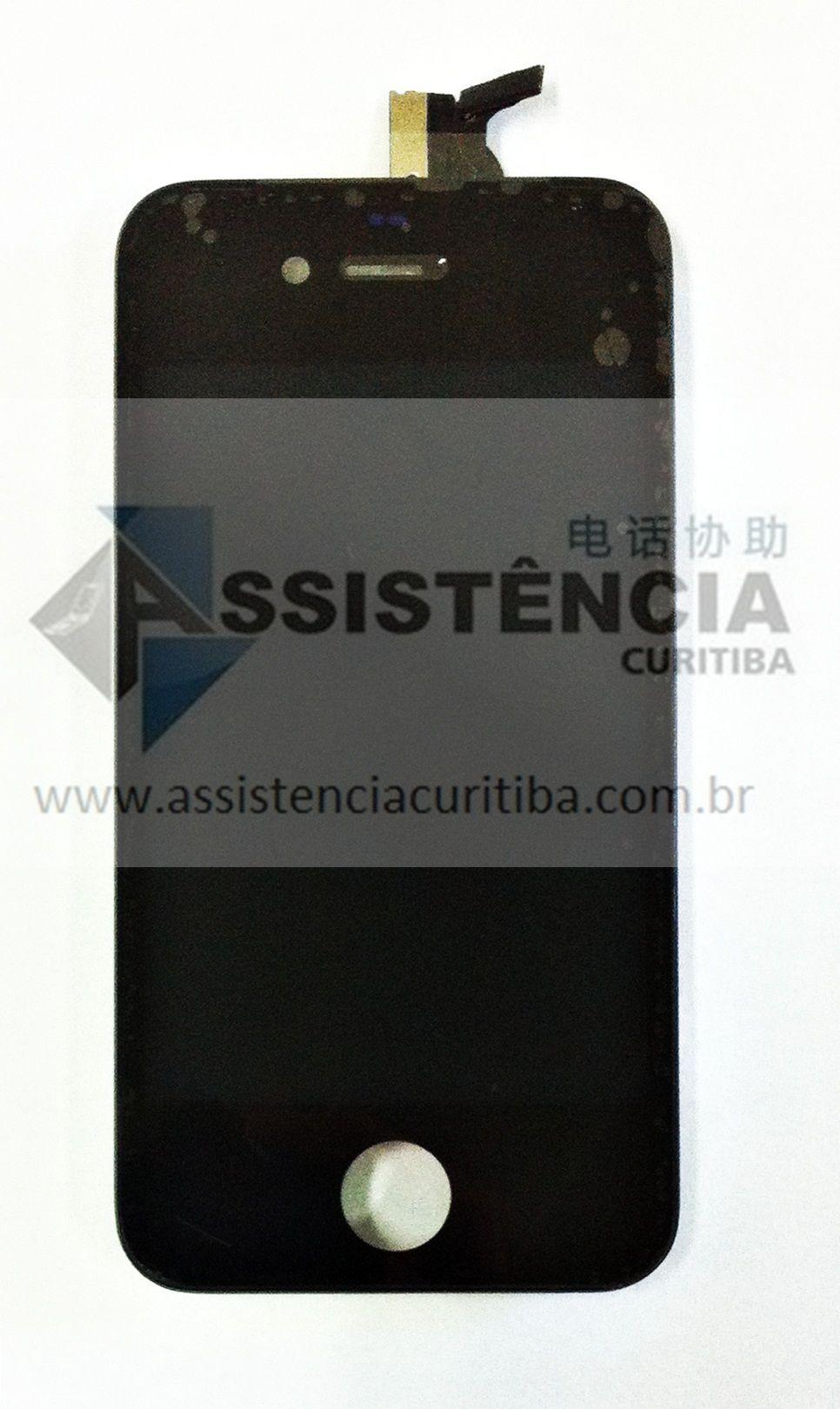 FRONTAL DISPLAY COM TOUCH CELULAR APPLE IPHONE 4 4G A1332 A1349 PRETO