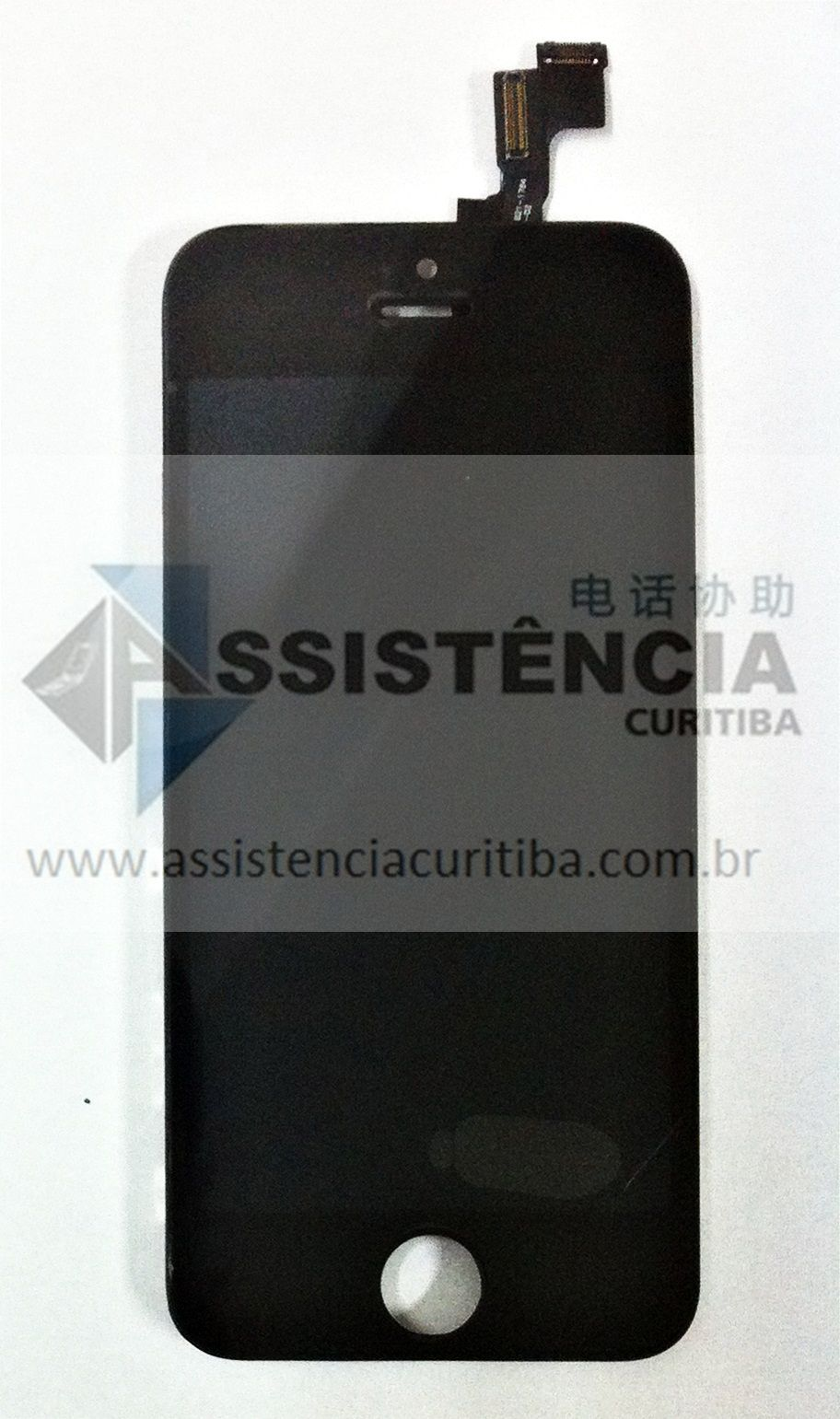 FRONTAL DISPLAY COM TOUCH CELULAR APPLE IPHONE 5S PRETO