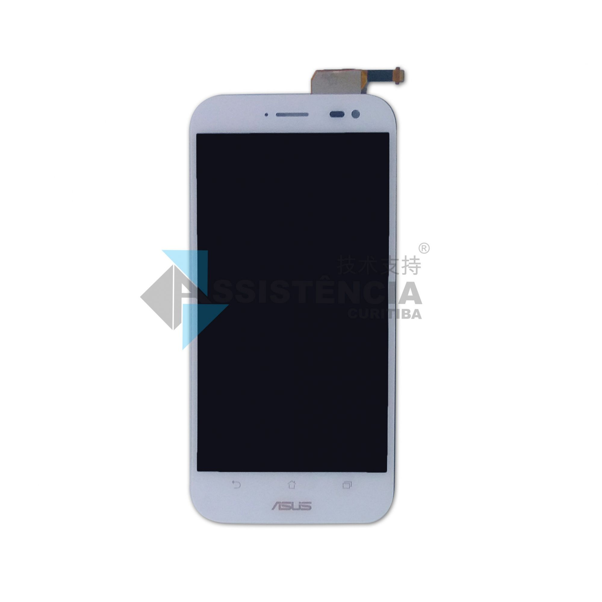 FRONTAL DISPLAY COM TOUCH CELULAR ASUS ZENFONE ZOOM ZX551ML Z00XS BRANCO