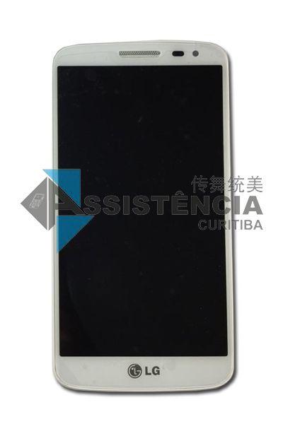 FRONTAL DISPLAY COM TOUCH CELULAR LG G2 MINI D618 D620 BRANCO