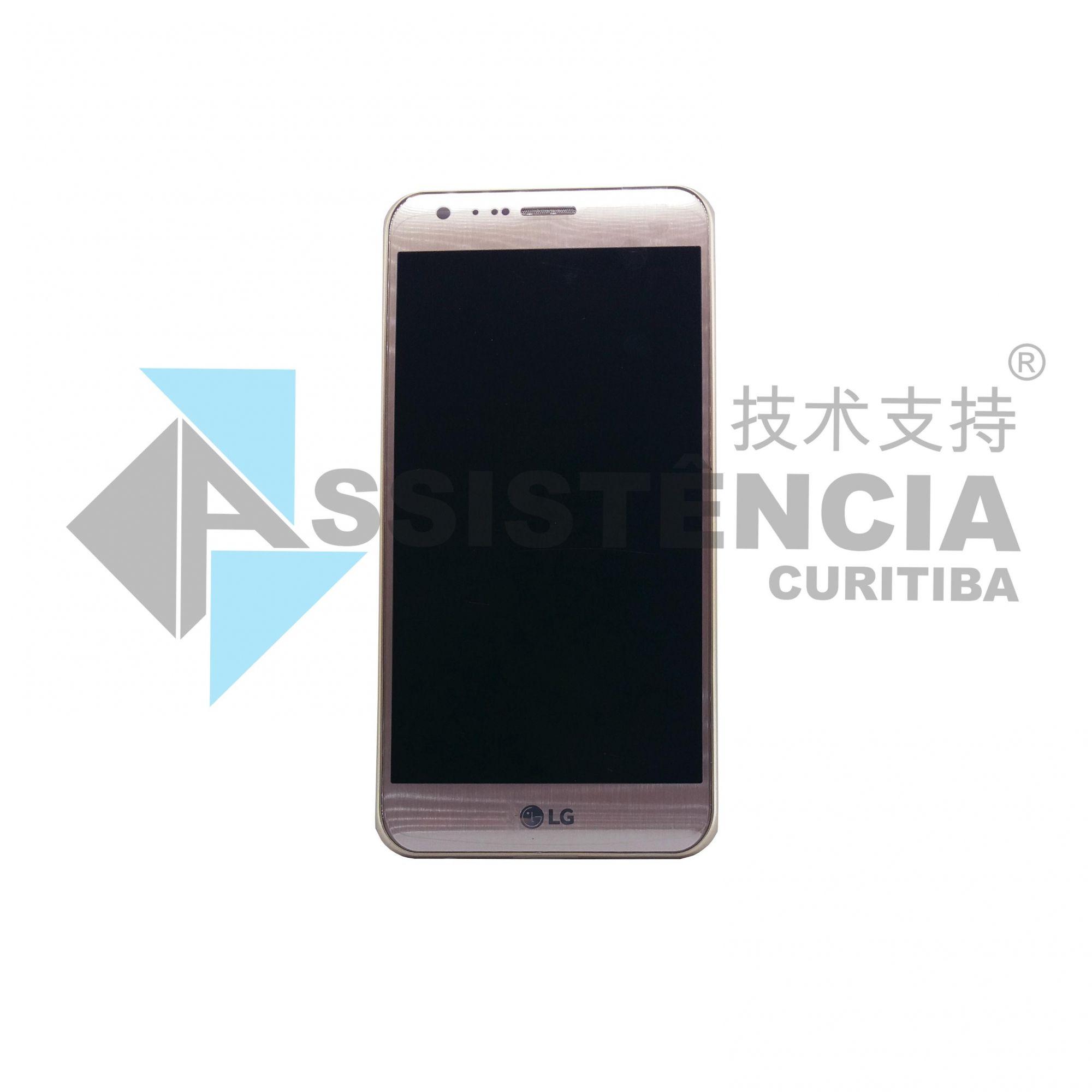 FRONTAL DISPLAY COM TOUCH CELULAR LG K580 X CAM 4G DUAL C/ ARO ROSE