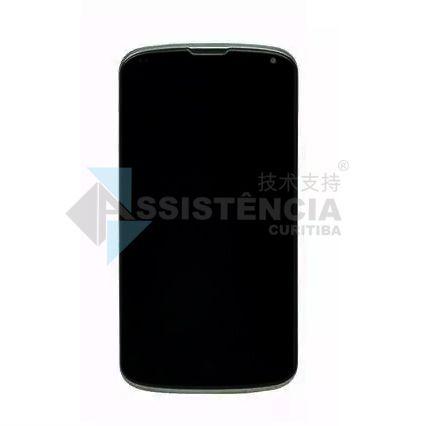 FRONTAL DISPLAY COM TOUCH CELULAR LG NEXUS 4 E960 COM ARO PRETO