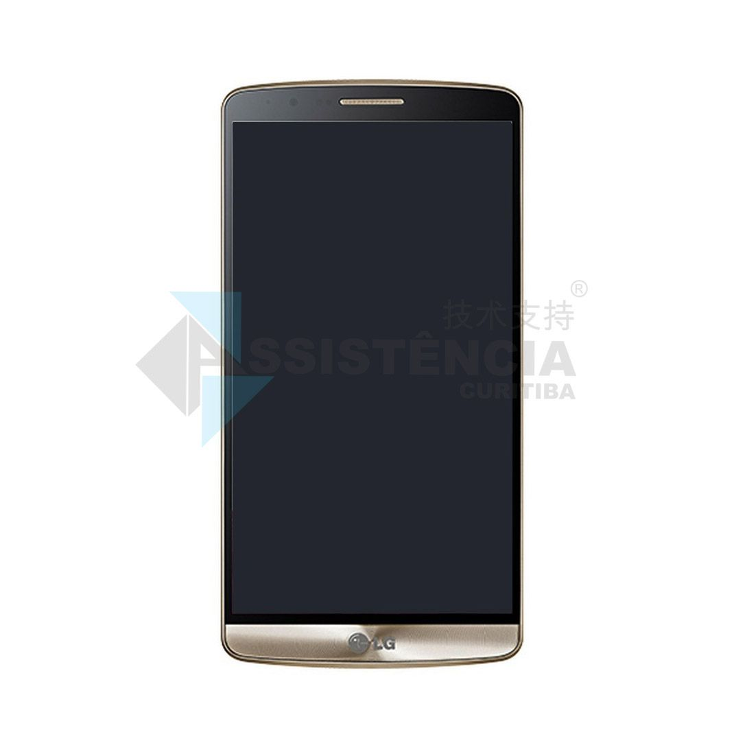 Tela Display Lg Optimus G3 D855 Com Aro Dourado