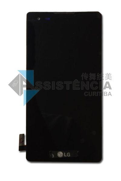 FRONTAL DISPLAY COM TOUCH CELULAR LG XSTYLE K200 DSF COM ARO