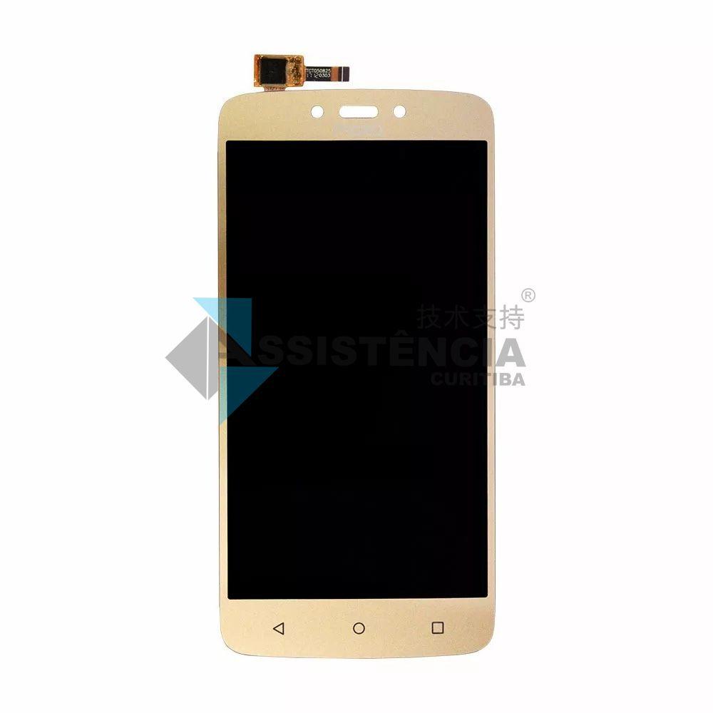 Tela Display Motorola Moto C Plus Xt1723 Xt1724 Xt1726 Dourado