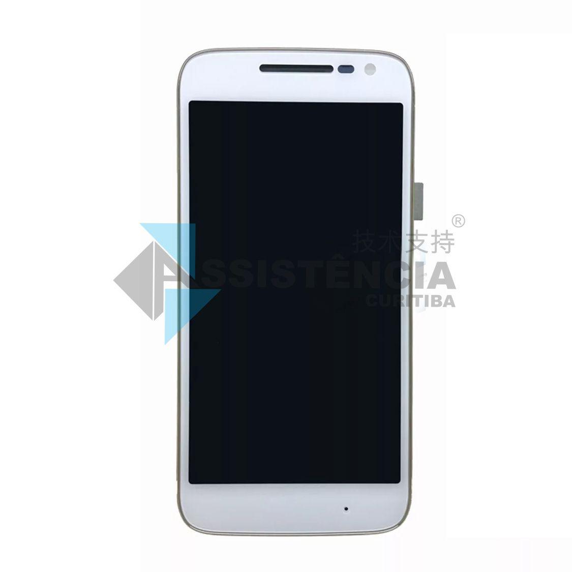 Tela Display Motorola Moto G4 Play Xt1600 Xt1603 Com Aro Branco