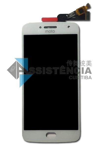 FRONTAL DISPLAY COM TOUCH CELULAR MOTOROLA MOTO G5 PLUS XT1681 XT1683 BRANCO