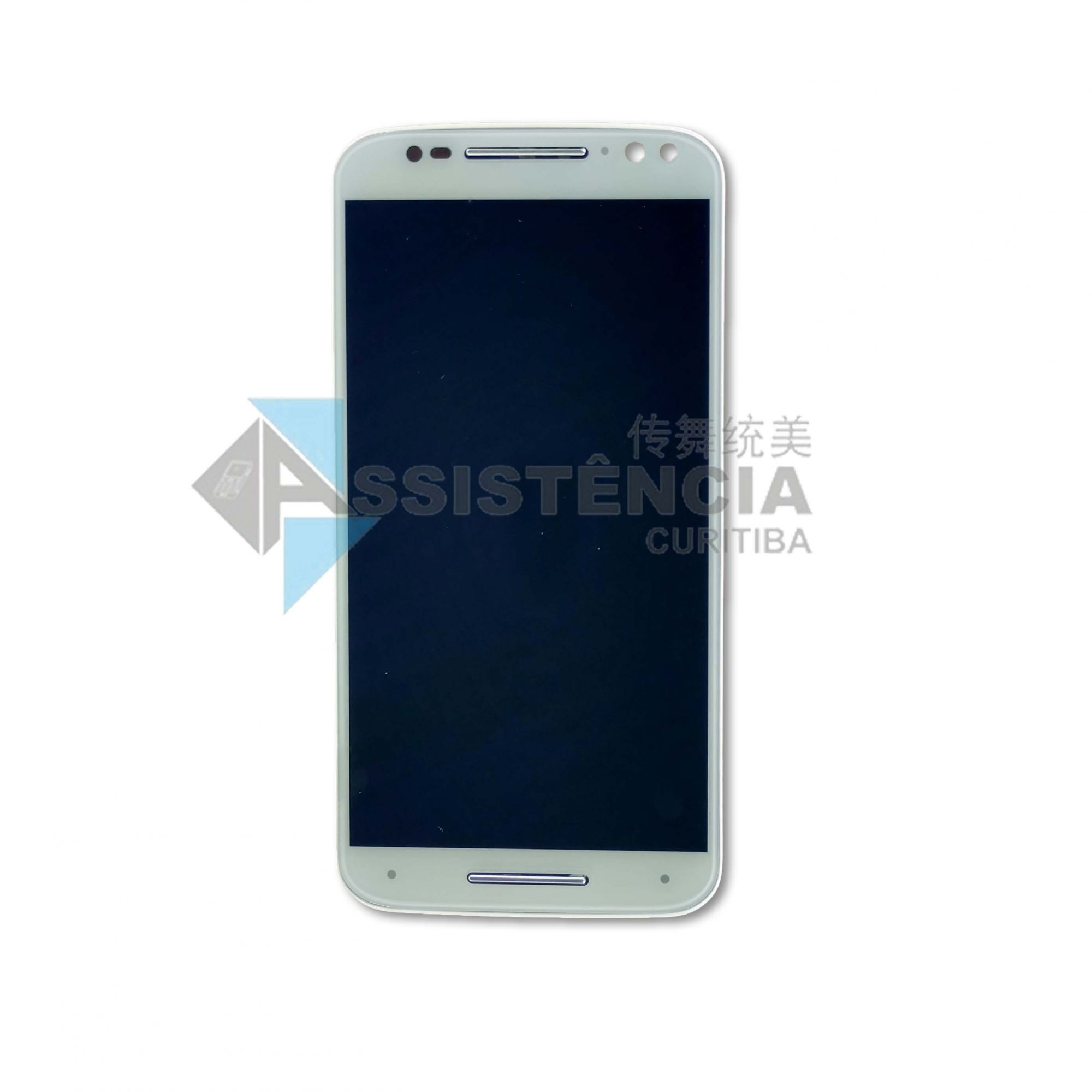 Tela Display Motorola Moto X Style Xt1570 Xt1572 Xt1575 Com Aro Branco