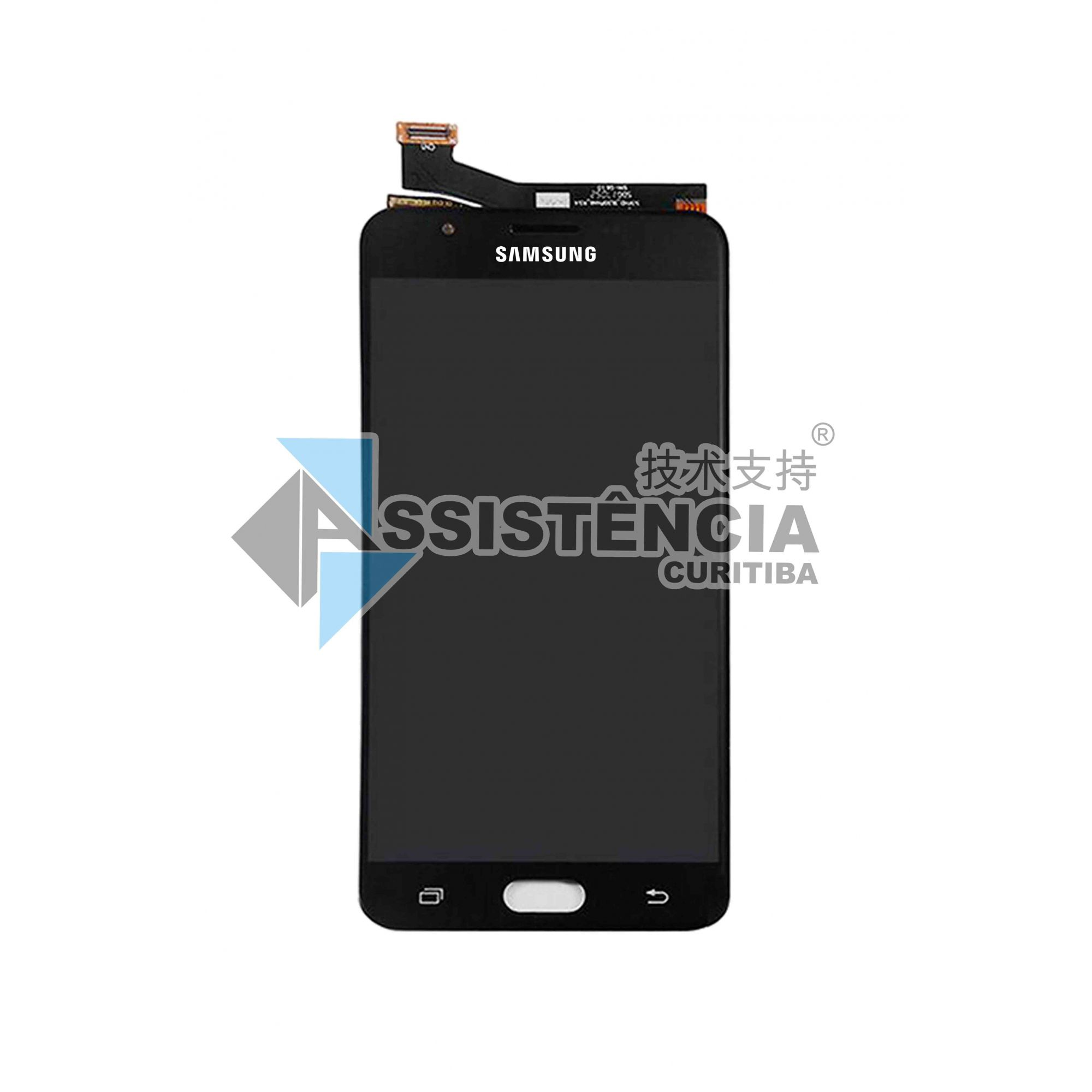 FRONTAL DISPLAY COM TOUCH CELULAR SAMSUNG GALAXY J7 J710 METAL 2016 ORIGINAL CH PRETO
