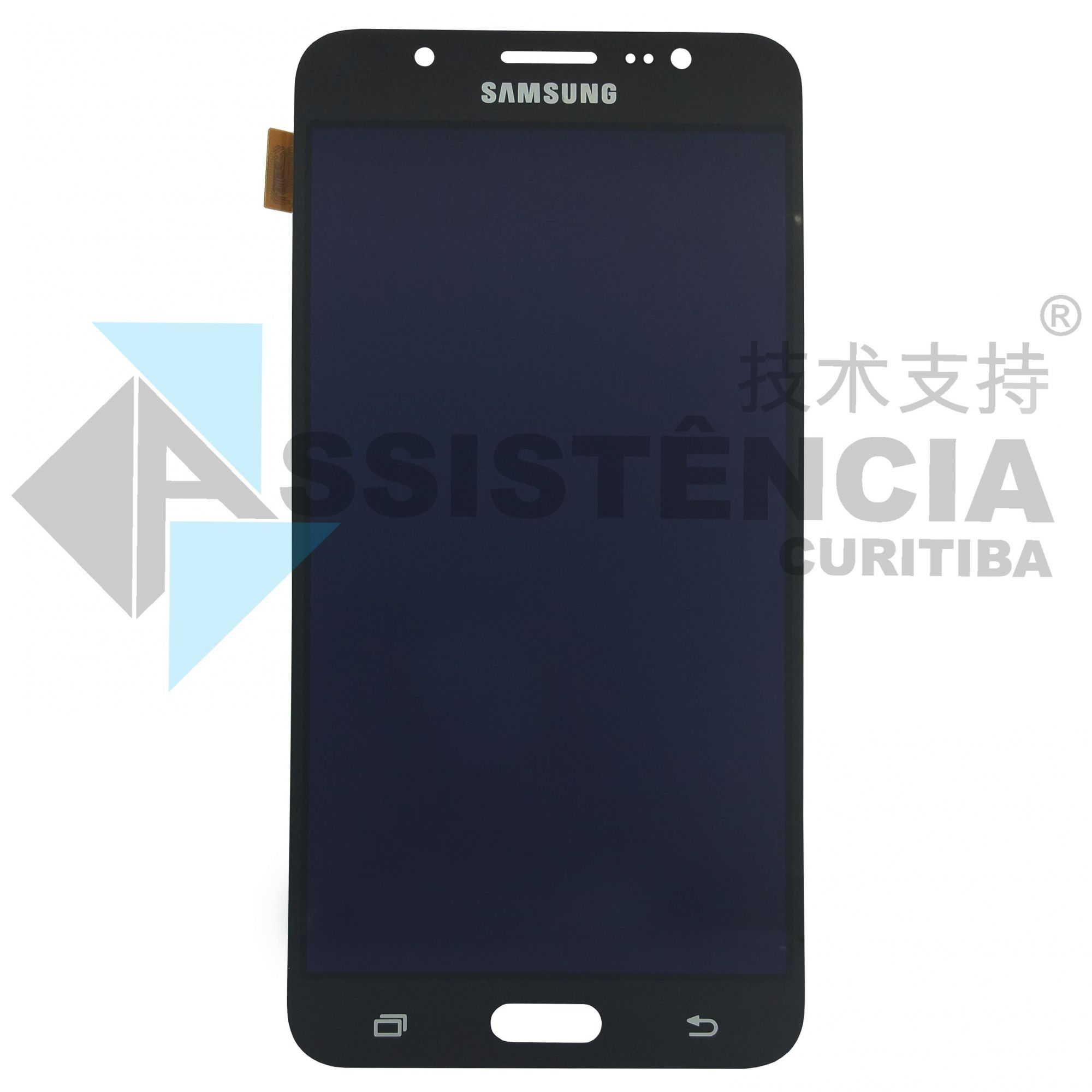 FRONTAL DISPLAY COM TOUCH CELULAR SAMSUNG GALAXY J7 J710 METAL COM BRILHO PRETO