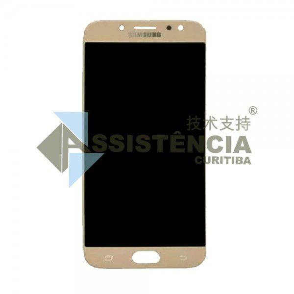 Tela Display Samsung Galaxy J7 Pro J730 Com Brilho Dourado