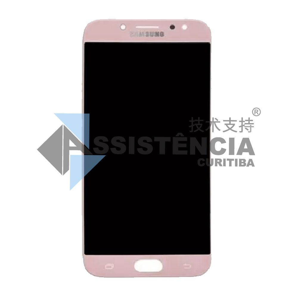 Tela Display Samsung Galaxy J7 Pro J730 Com Brilho Rosa