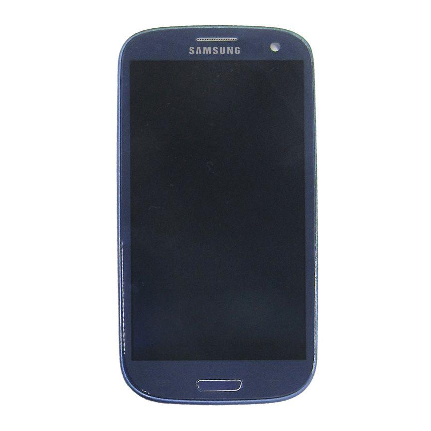 Tela Display Samsung Galaxy S3 I9305 I9300 Com Aro Com Brilho Azul