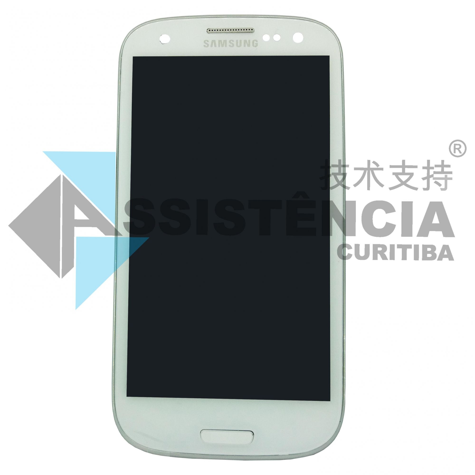 FRONTAL DISPLAY COM TOUCH CELULAR SAMSUNG GALAXY S3 I9305 I9300 COM ARO COM BRILHO BRANCO