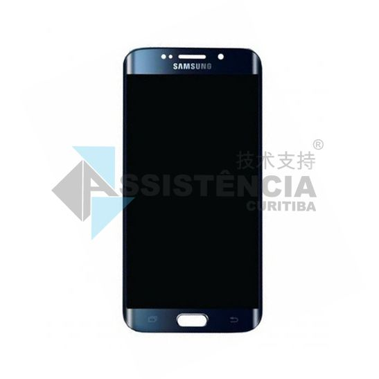 FRONTAL DISPLAY COM TOUCH CELULAR SAMSUNG GALAXY S6 EDGE G925 ORIGINAL RETIRADA AZUL