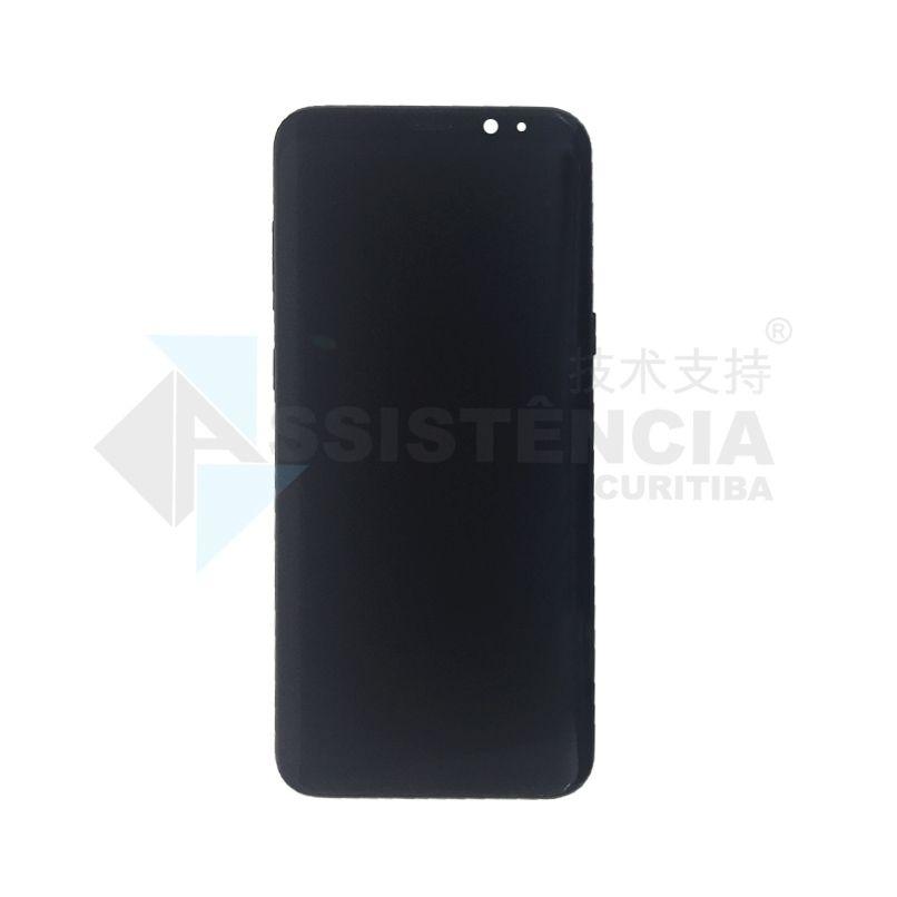 Tela Display Samsung Galaxy S8 Plus S8+ Sm-G955 Com Aro Preta Original Retirada