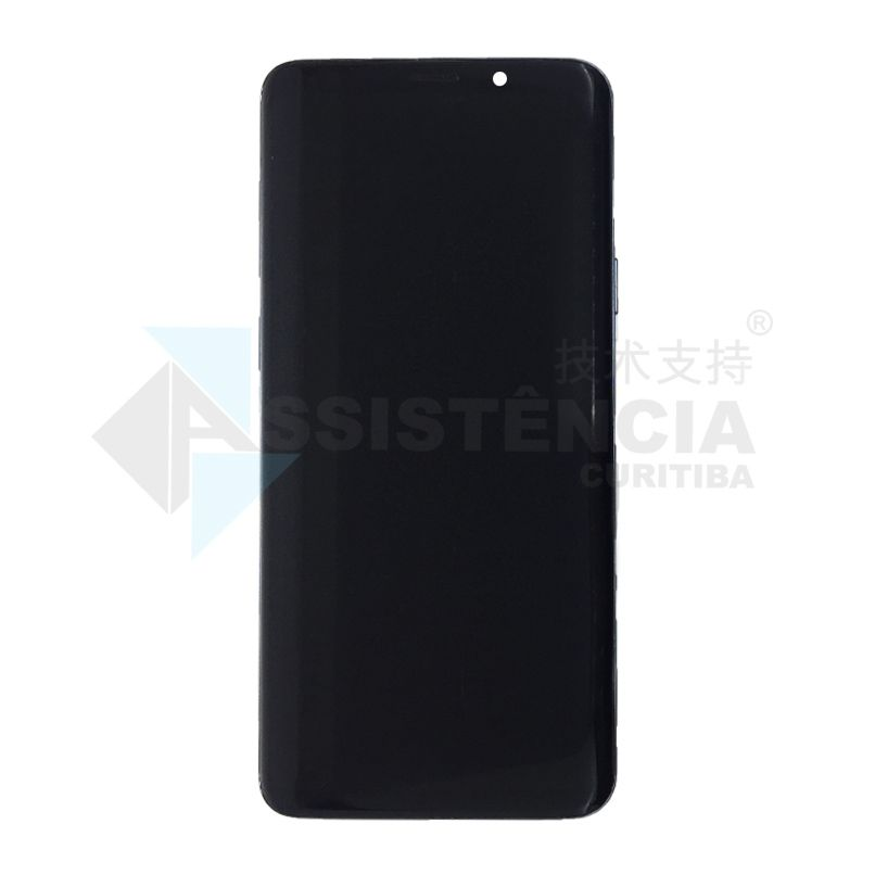 FRONTAL DISPLAY COM TOUCH CELULAR SAMSUNG GALAXY S9 PLUS S9+ SM-G965 COM ARO CINZA ORIGINAL RETIRADA