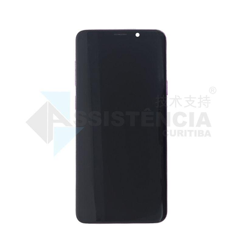 Tela Display Samsung Galaxy S9 Plus S9+ Sm-G965 Com Aro Roxo Original Retirada