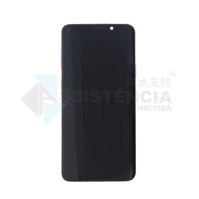 FRONTAL DISPLAY COM TOUCH CELULAR SAMSUNG GALAXY S9 PLUS S9+ SM-G965 COM ARO ROXO ORIGINAL RETIRADA