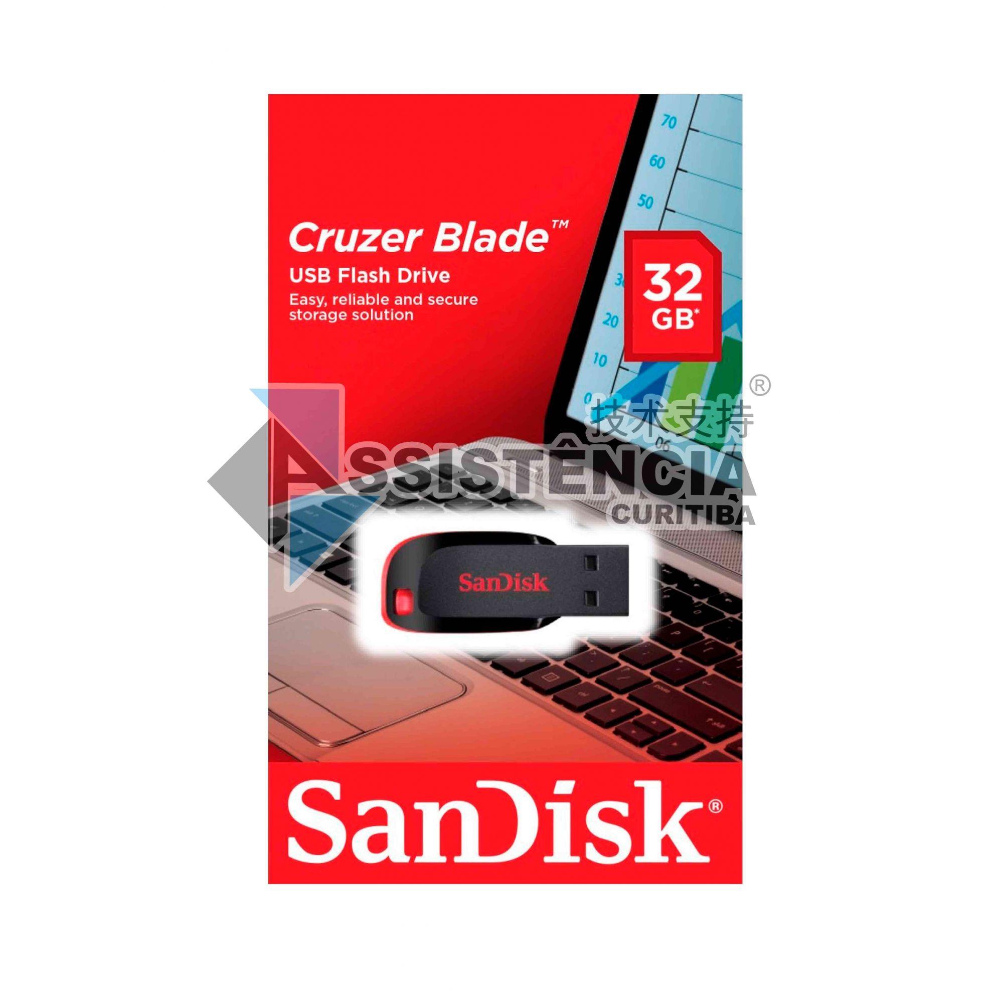 PENDRIVE CRUZER BLADE SANDISK 32GB ORIGINAL