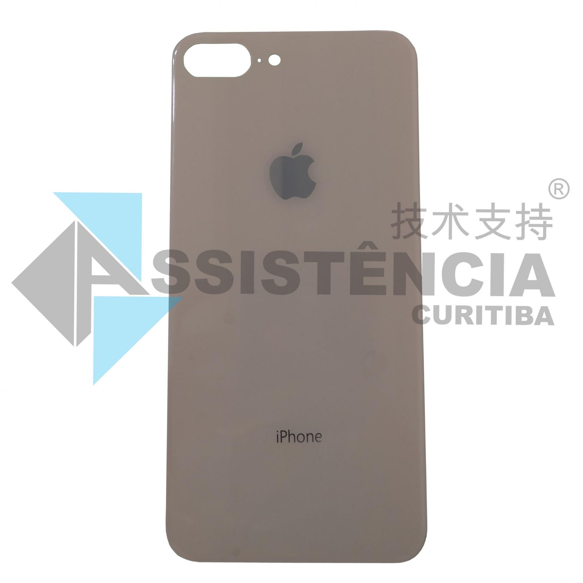 TAMPA TRASEIRA CELULAR APPLE IPHONE 8 PLUS DE VIDRO ROSE ORIGINAL
