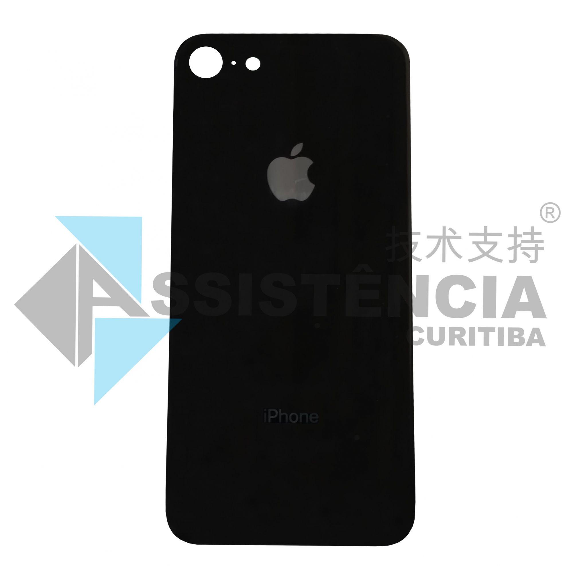 Tampa Traseira Apple Iphone 8G De Vidro Preto Original