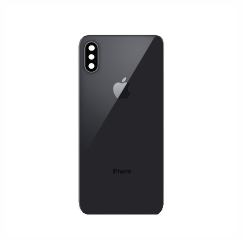 Tampa Traseira Apple Iphone X De Vidro Original Preto (Com Lente) Original