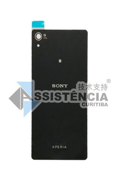 Tampa Traseira Sony Xperia Z3 D6603 Vidro Preto