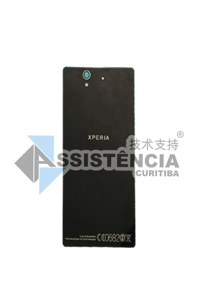 TAMPA TRASEIRA CELULAR SONY XPERIA Z LT36H LT36I C6602 C6603 PRETO