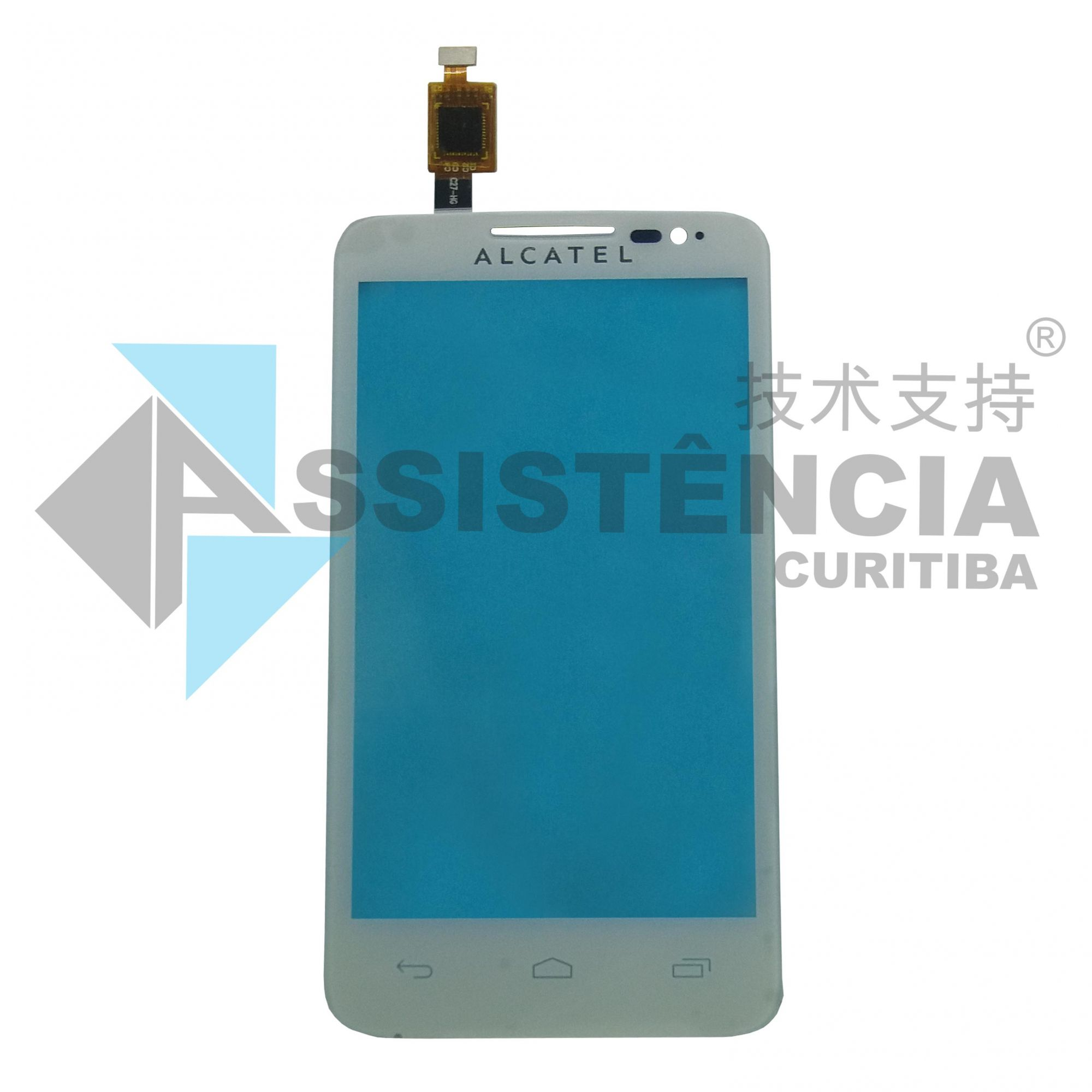 TELA TOUCH CELULAR ALCATEL ONE TOUCH M´POP OT5020 BRANCO