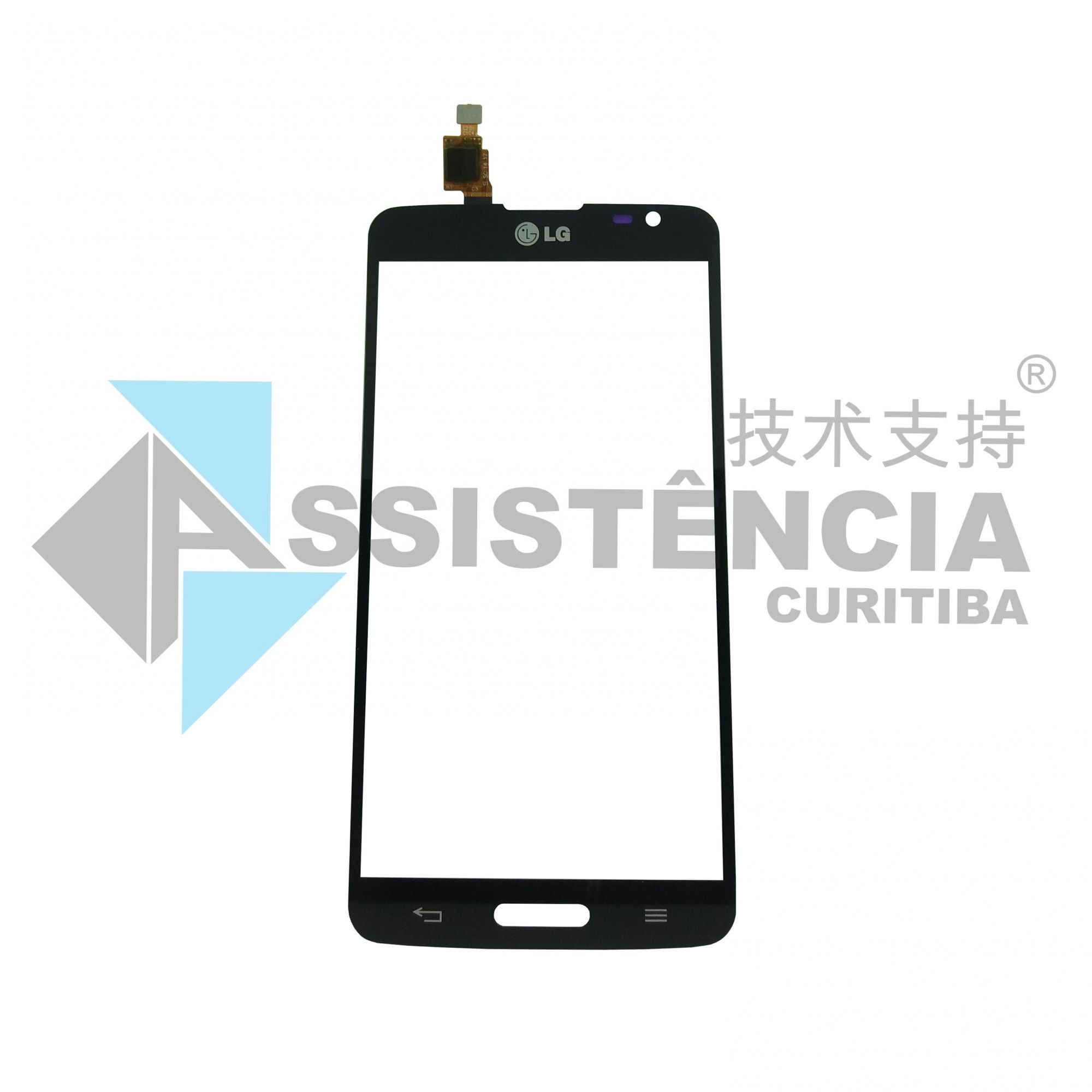 TELA TOUCH CELULAR LG G PRO LITE DUAL D685 D686 D680 C/ FURO PRETO