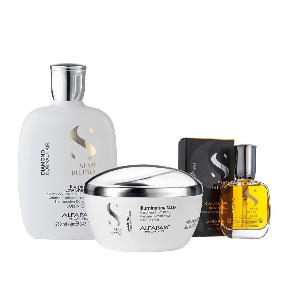 Alfaparf Kit Reconstruction Reparative Shampoo e Mascara + Cristalli Liquidi 30ml