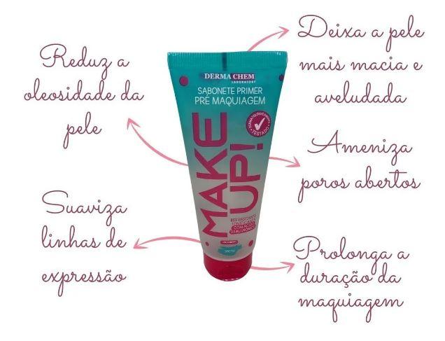 Dermachem Make Up Sabonete Primer Pré Maquiagem - 100ml