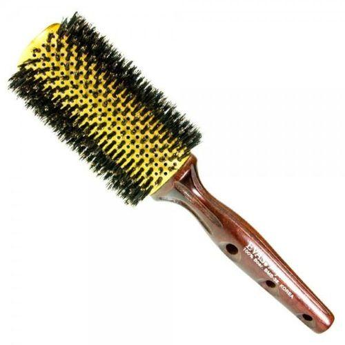 Escova para cabelo Evas Alumínio Com Cerdas Naturais Bmb 32