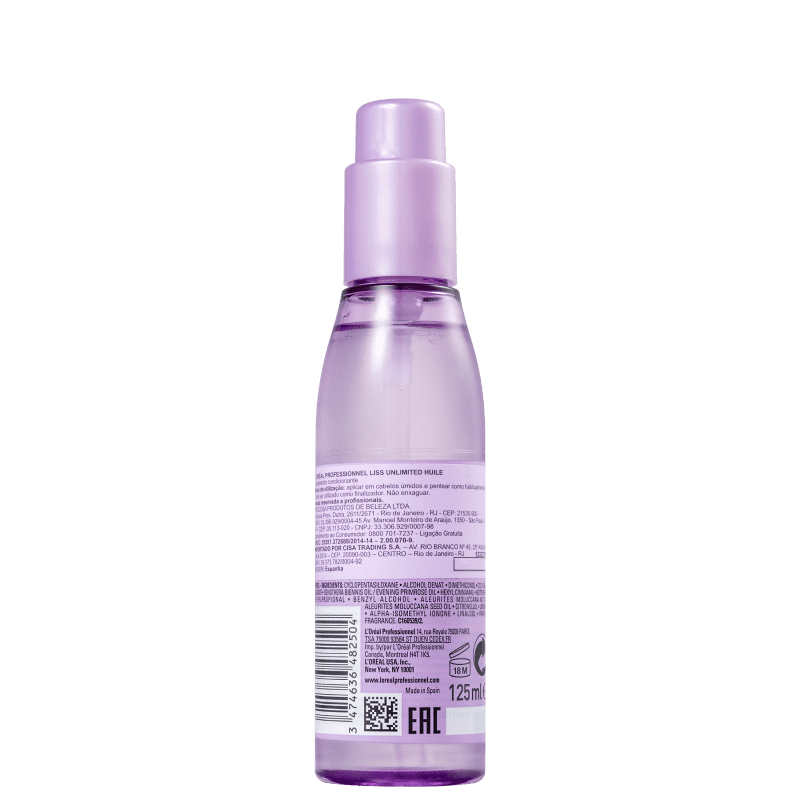 Loreal Oil Liss Unlimited 125ml