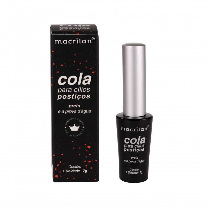 Macrilan Cola Para Cílios Postiços A Prova D'água Preta