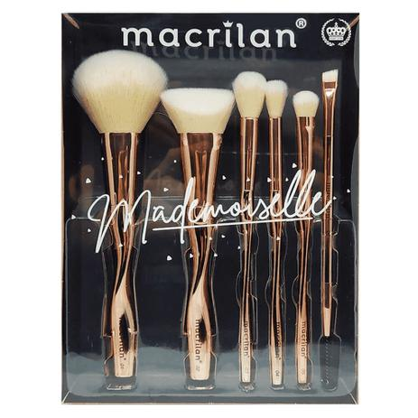 Macrilan Kit 6 Pincéis Profissionais Mademoiselle Ed004